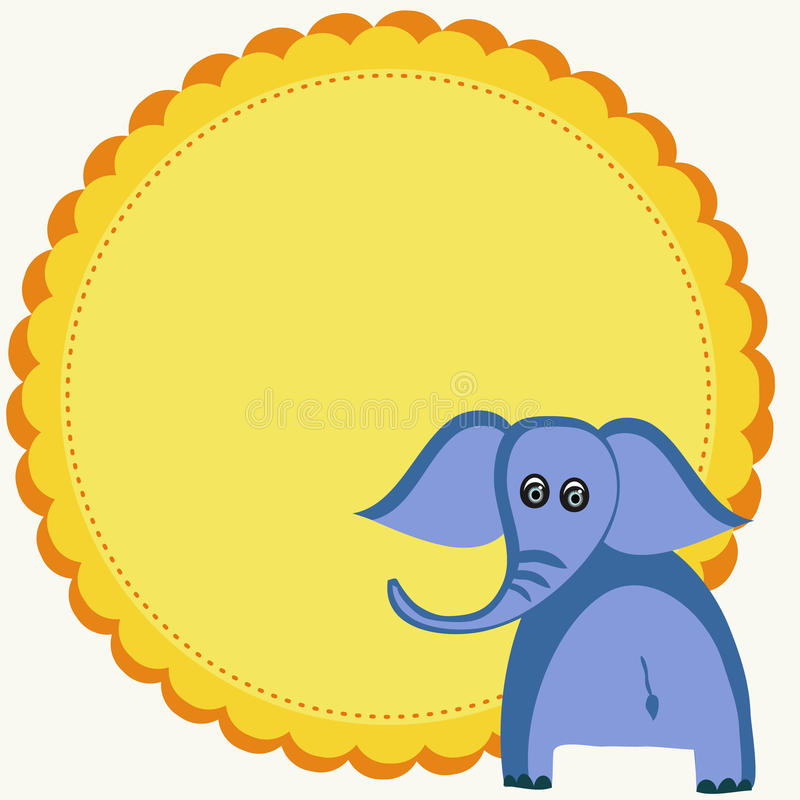 Elephant illustration stock photo