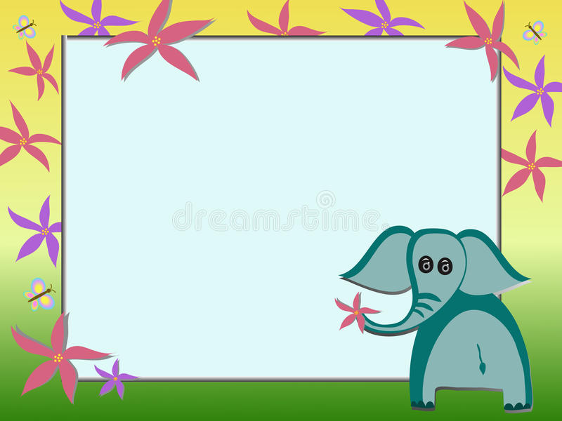 Elephant illustration royalty free stock photos