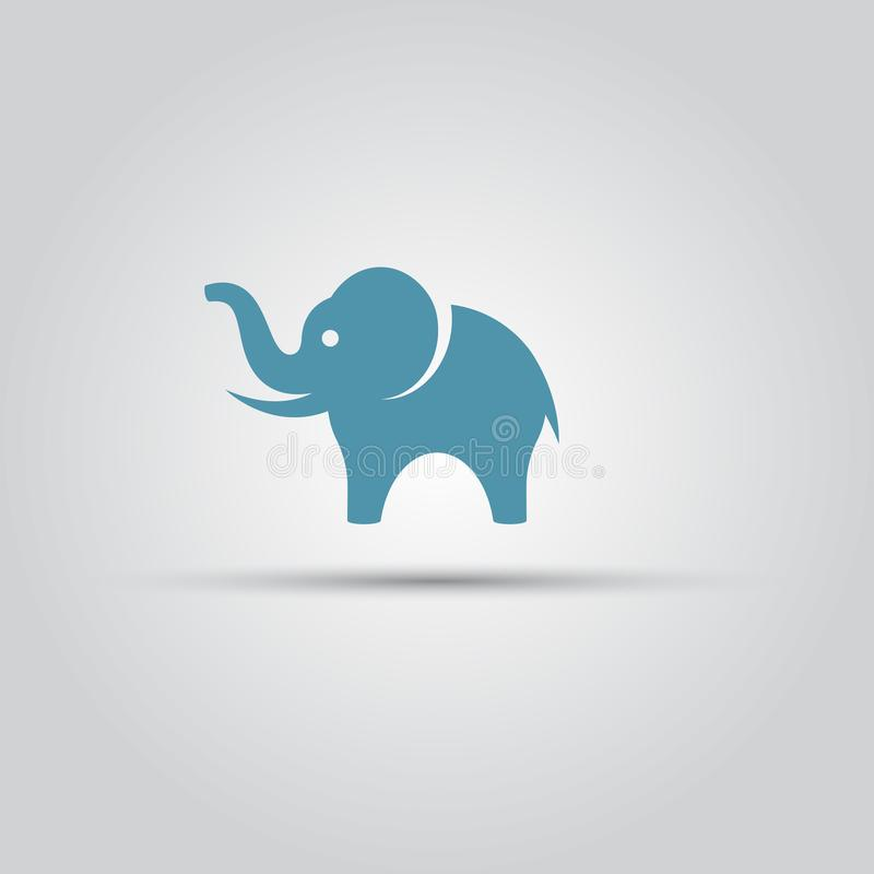 Elephant isolated vector colored symbol icon. Elephant isolated vector silhouette, icon or sign vector illustration