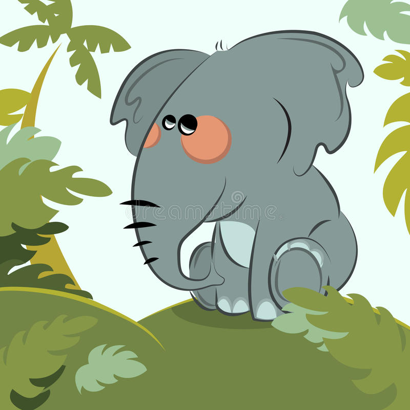 Download Elephant in the jungle stock vector. Illustration of cute - 13754813