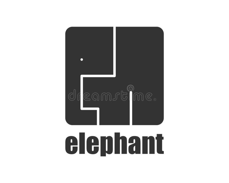 Elephant logo modern style. African animals wild zoo vector illustration
