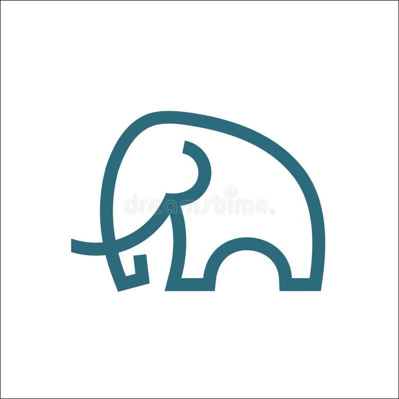 Free Elephant Logo Vector Monoline Art Illustration Royalty Free Stock Image - 160693906