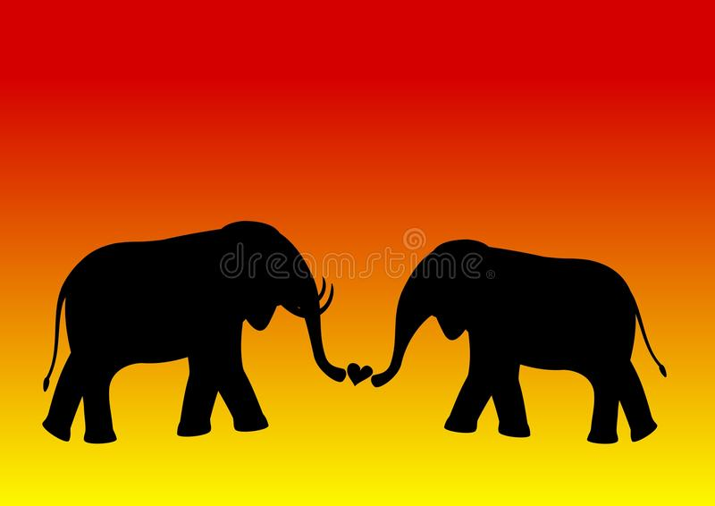 Download Elephant love stock vector. Illustration of illustrated - 14424568