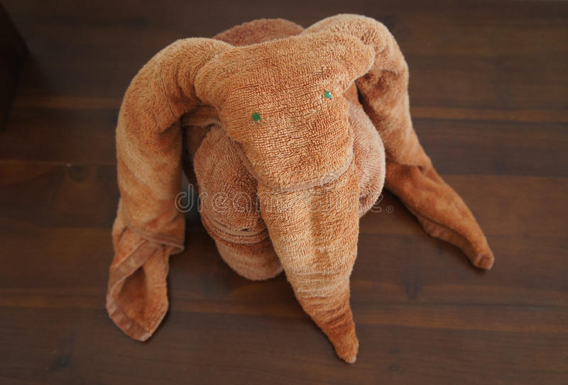 Download Elephant made of towels. stock photo. Image of brown - 22785272