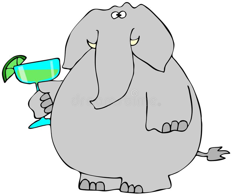 Download Elephant with a Margarita stock illustration. Illustration of drink - 29363869