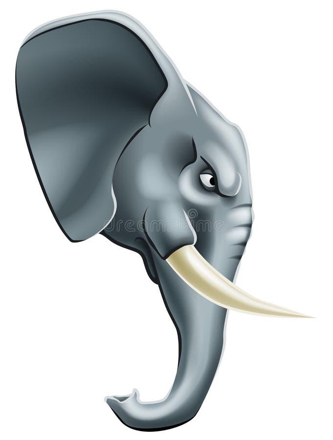 Elephant mascot character royalty free illustration