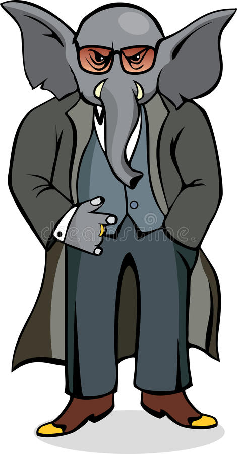 Download Elephant Mobster Royalty Free Stock Image - Image: 17842676