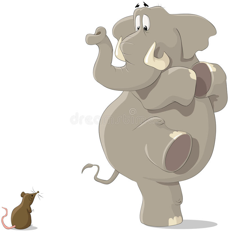 The elephant and the mouse royalty free illustration