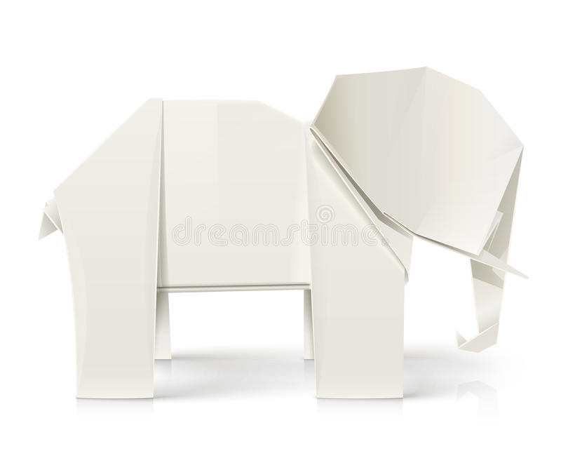 Elephant Origami Paper Toy Stock Images