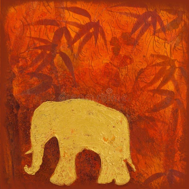 Elephant Painting Royalty Free Stock Photo