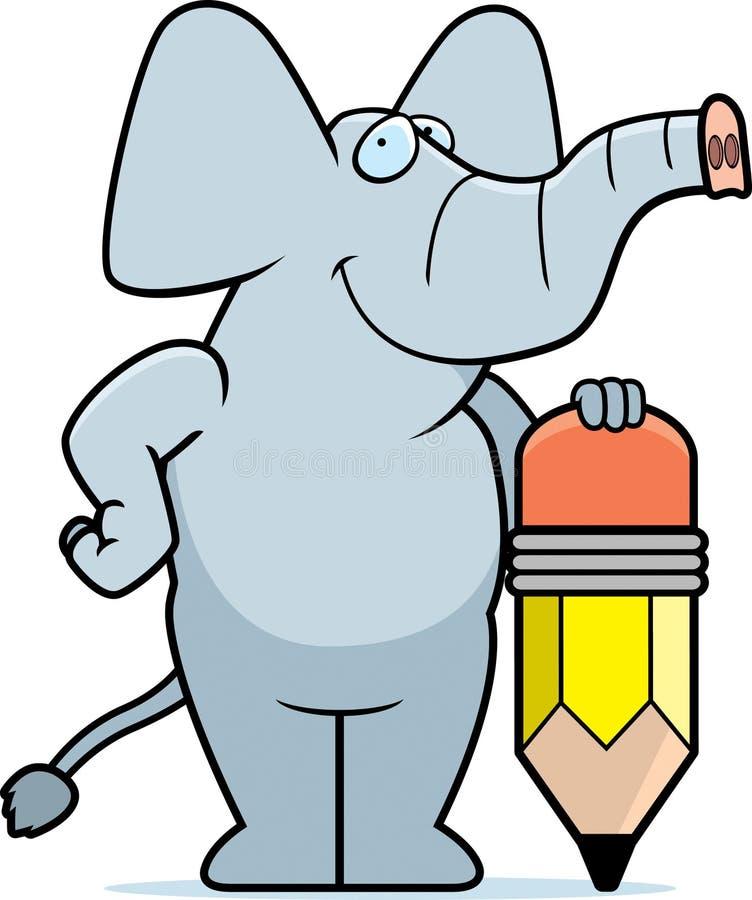 Elephant Pencil stock illustration