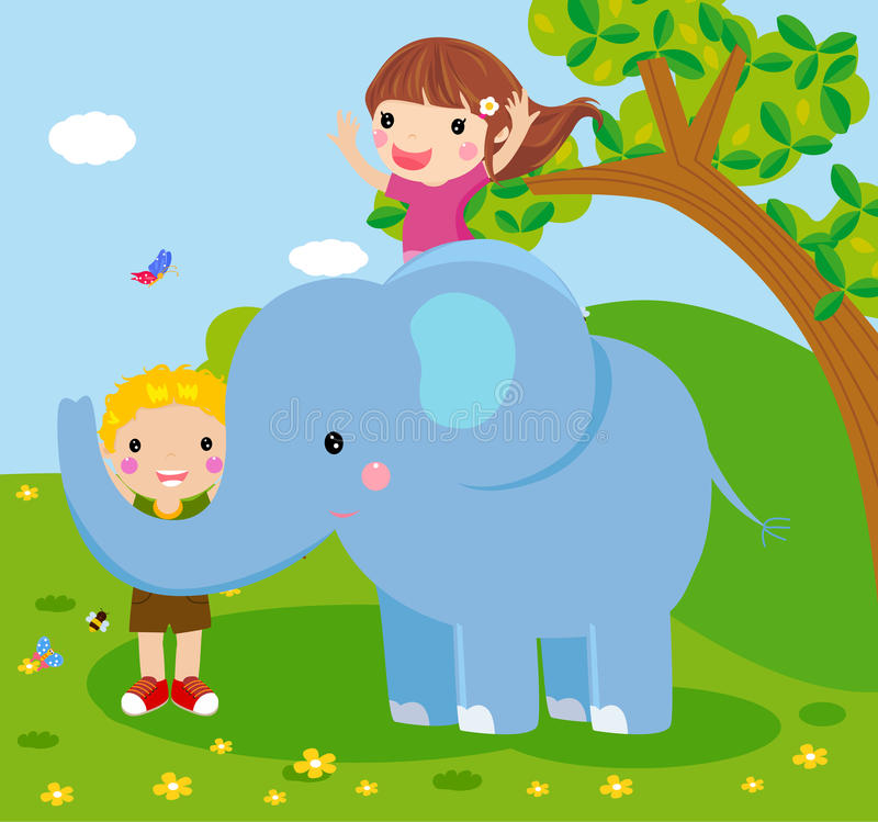 Elephant And People Royalty Free Stock Images