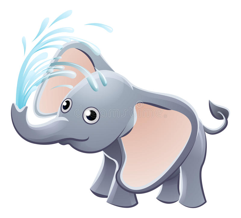 Free Elephant Playing Animal Cartoon Character Royalty Free Stock Images - 79719739
