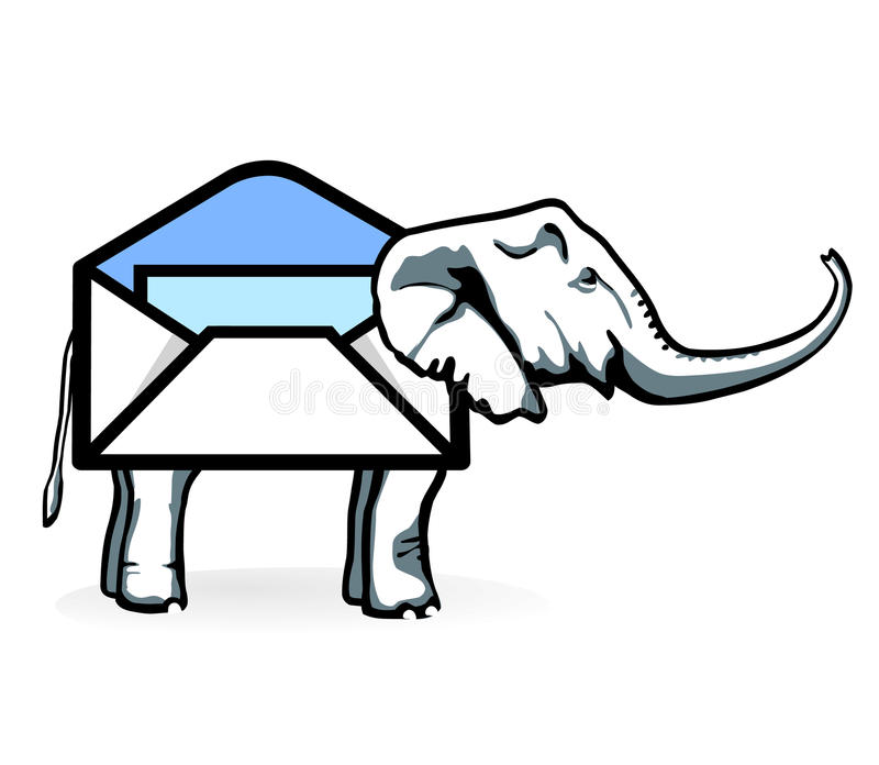 Download Elephant-Post stock vector. Image of message, computer - 14804210