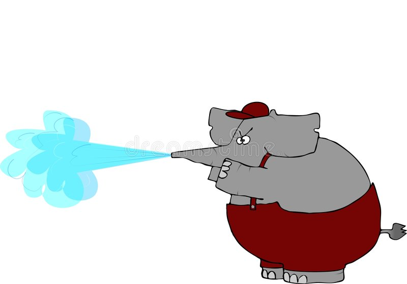 Download Elephant Pressure Washer Royalty Free Stock Image - Image: 2668946