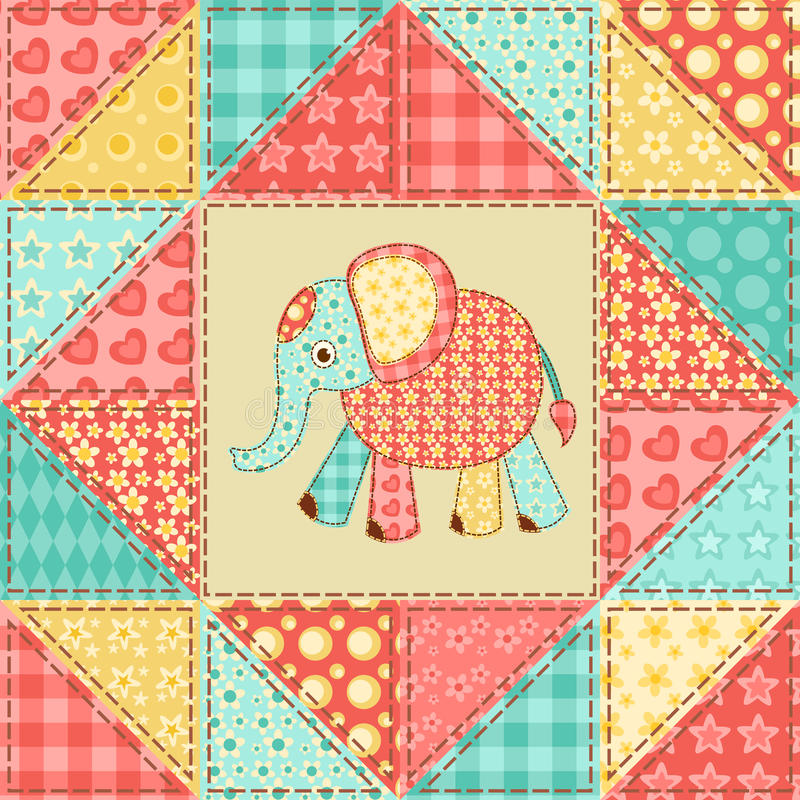 Elephant quilt pattern stock vector. Illustration of lovely - 34616752 : elephant quilt patterns - Adamdwight.com