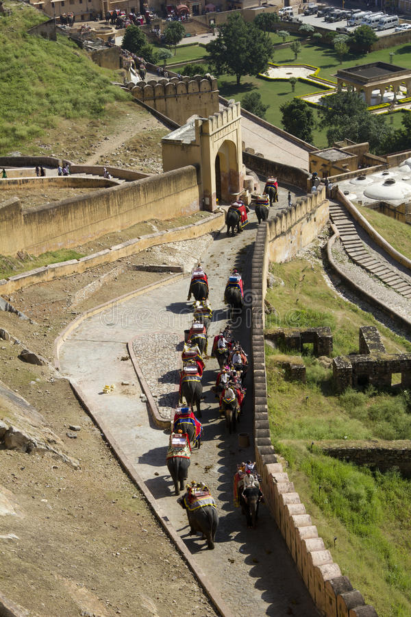 Download Elephant Ride At Amber Fort Jaipur, India Editorial Stock Photo - Image: 26957128