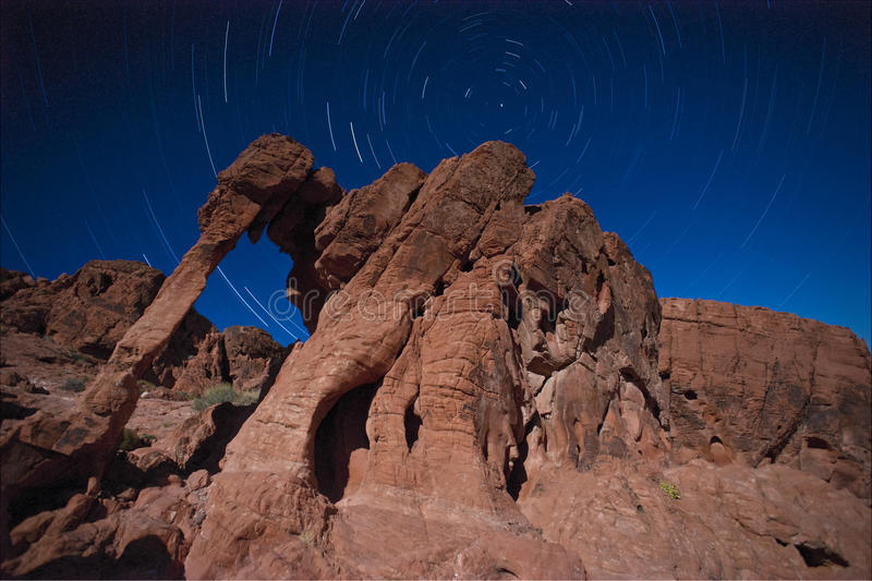 Elephant Rock Star Trails stock photography