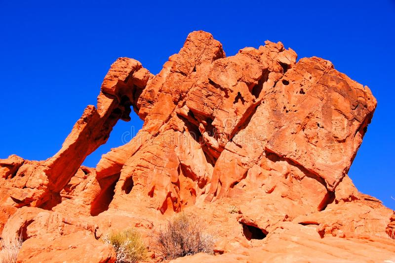 Elephant Rock, Valley Of Fire Stock Images