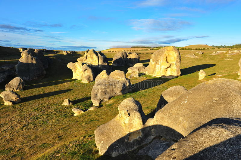 Elephant rocks in New Zealand royalty free stock photos