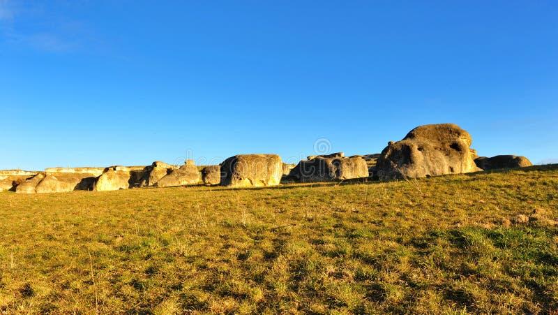 Elephant rocks in New Zealand royalty free stock image