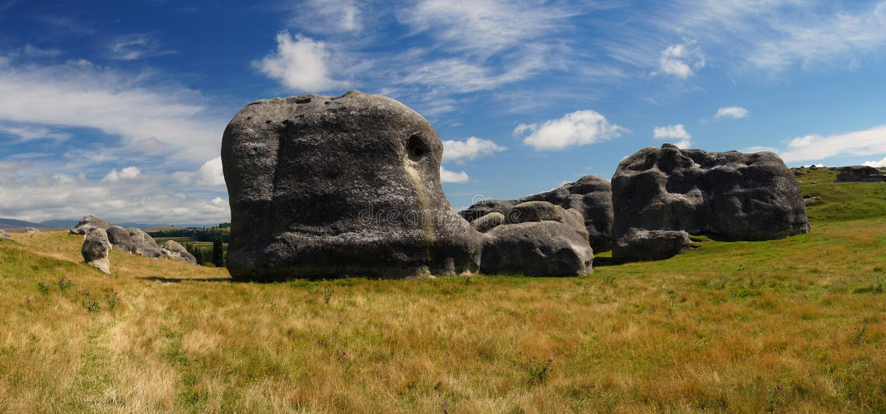 Elephant Rocks Otago. stock image