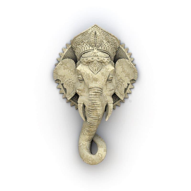 Elephant sculpture stock illustration