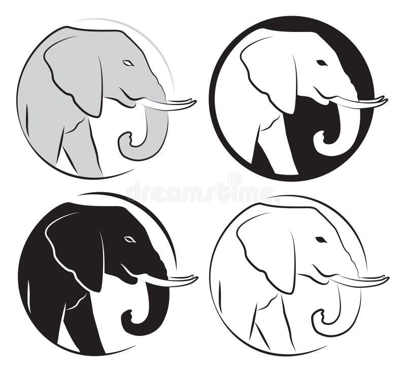 Elephant set. On white background royalty free illustration