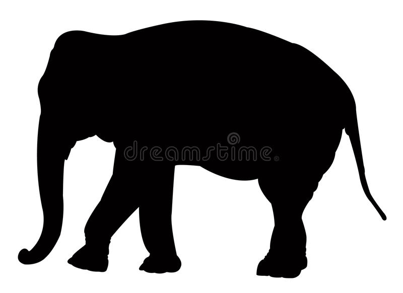 Elephant silhouette. Vector file of elephant silhouette royalty free illustration