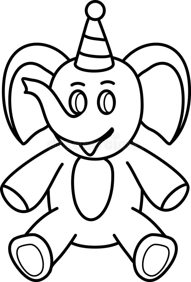 Line Drawing From Photo Photo : Elephant simple line drawing toys stock vector