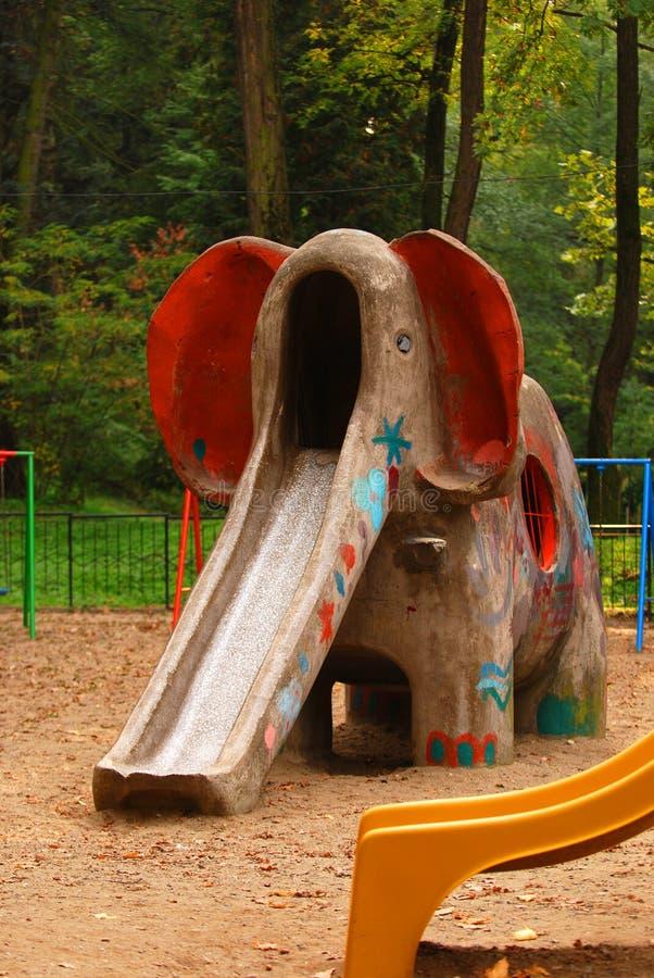 Elephant Slide On Playground Royalty Free Stock Photography