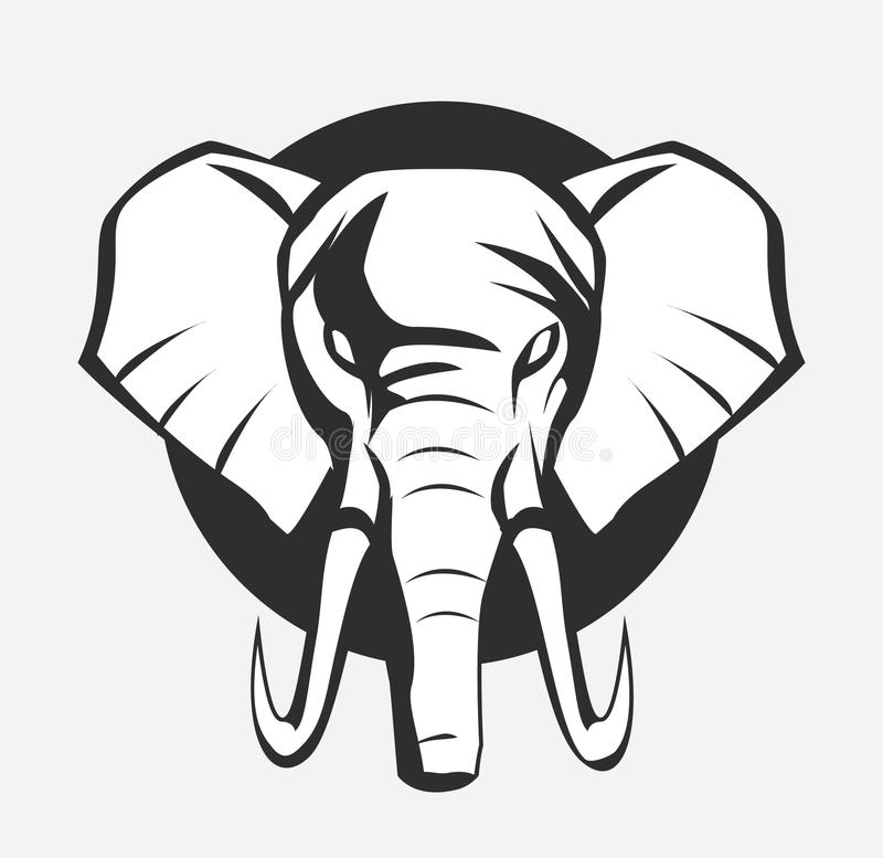 Elephant symbol stock illustration
