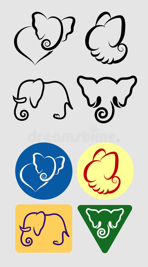 Elephant symbols royalty free stock photography image for Easy way to create a logo