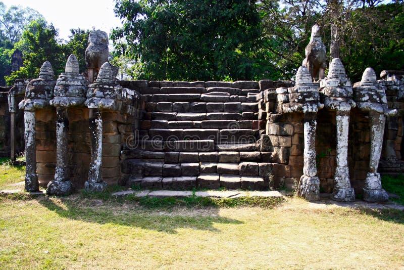 Elephant Terrace,Angkor stock photo