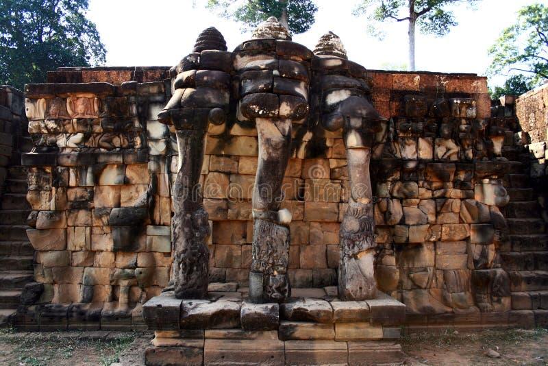 Elephant Terrace,Angkor royalty free stock photos