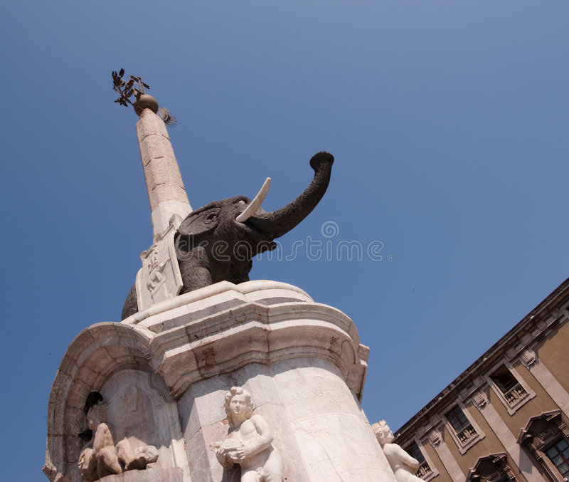 Elephant to Catania royalty free stock image