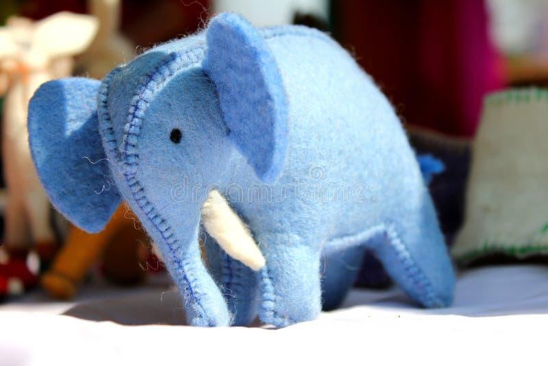 Elephant toy in surajkund fair stock image