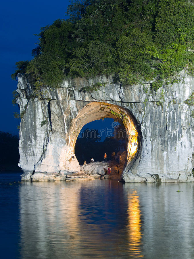 Download The Elephant Trunk Hill stock image. Image of guilin, cave - 4526587