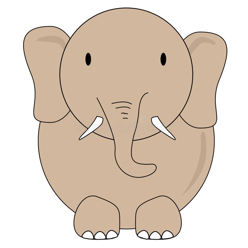 Elephant Vector Drawing For Kids Stock Vector Illustration Of