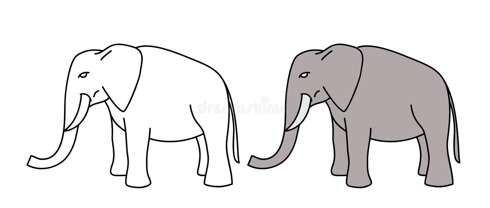 Elephant Vector for kid stock image