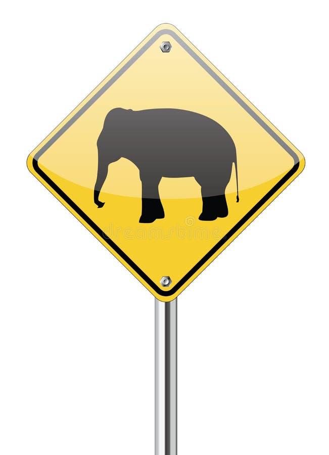 Free Elephant Warning Traffic Sign Stock Images - 30917524