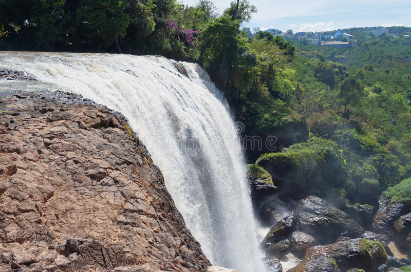 Elephant Waterfall. Dalat. Vietnam. It is more than 30m high, about 15m wide royalty free stock photo