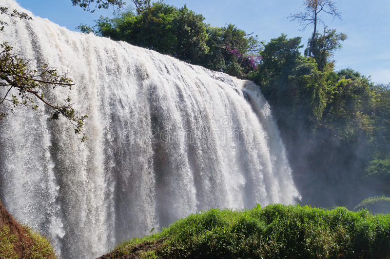 Elephant Waterfall. Dalat. Vietnam. It is more than 30m high, about 15m wide royalty free stock image
