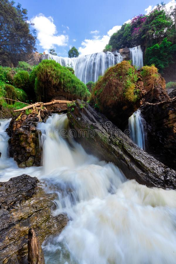 Elephant Waterfall. Dalat. Vietnam. It is more than 30m high, about 15m wide royalty free stock photography