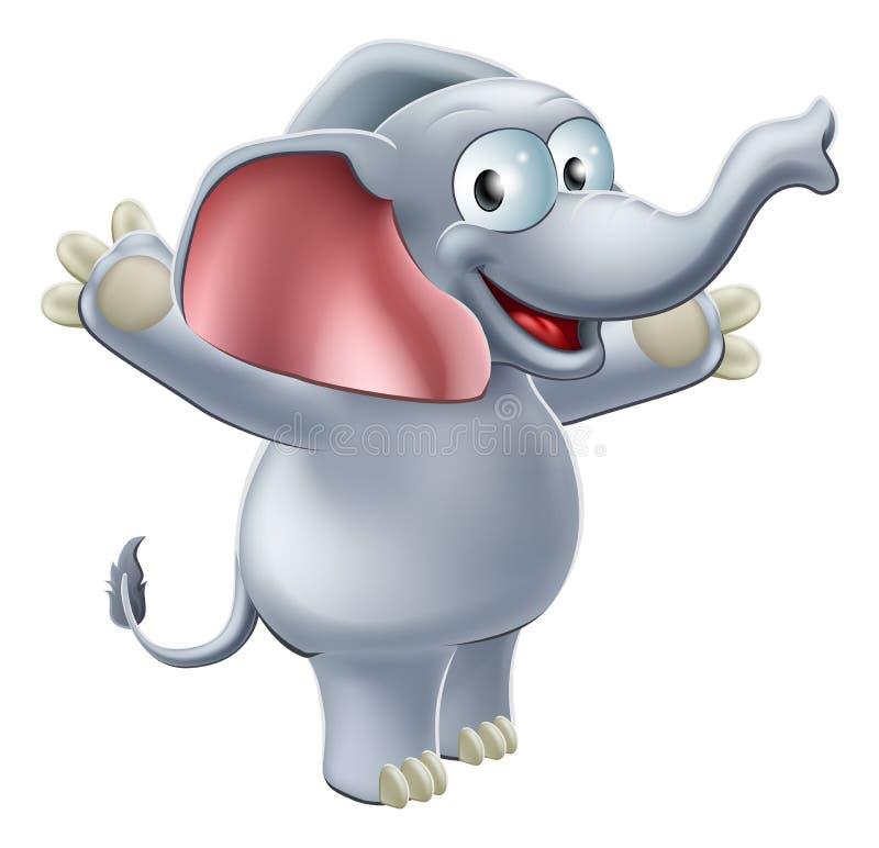 Elephant Waving royalty free illustration