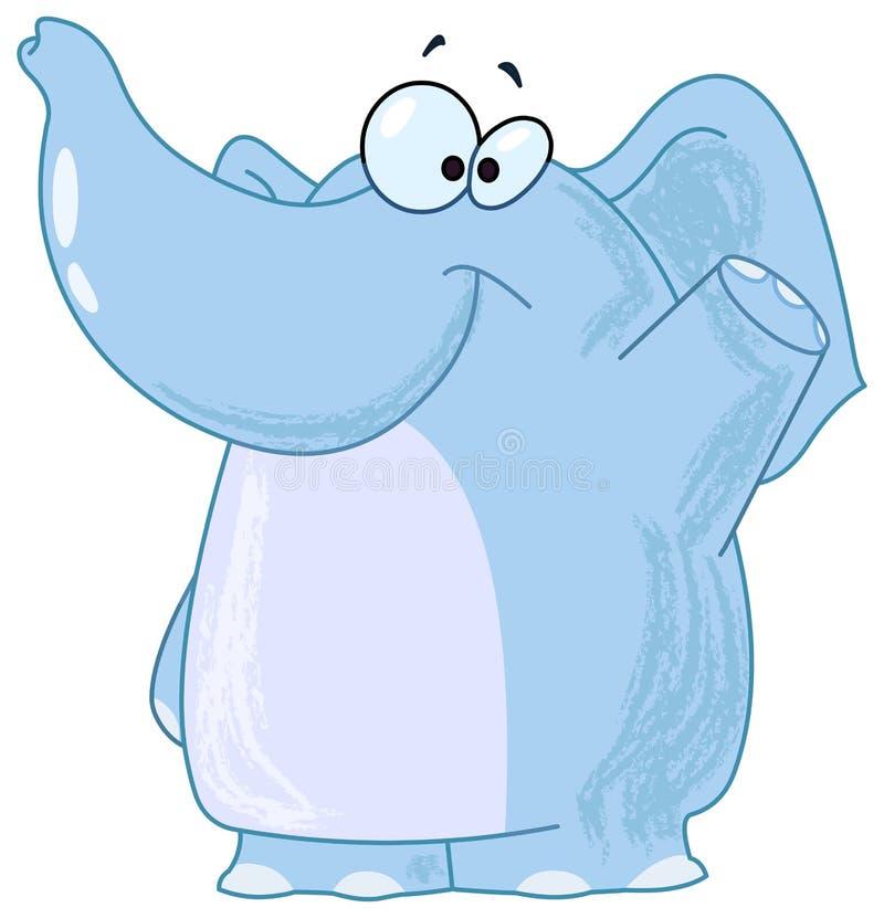 Elephant waving stock illustration
