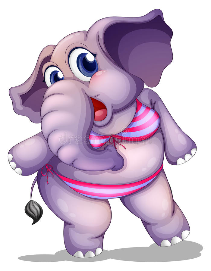 Download An Elephant Wearing A Bikini Stock Illustration - Image: 33314739