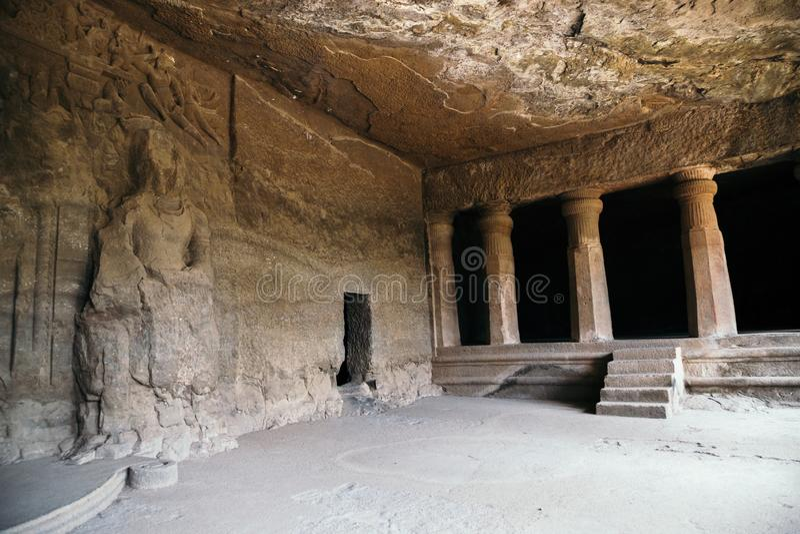 Elephanta Caves ancient ruins at Mumbai, India. Elephanta Caves ancient ruins in Mumbai, India royalty free stock photos