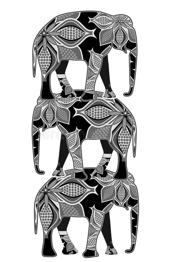Download Elephants stock vector. Image of illustration, abstract - 23226419