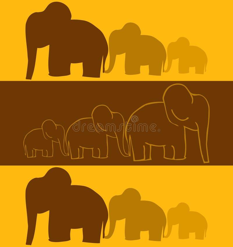 Elephants. Vector Elephants Seamless Background Illustration vector illustration